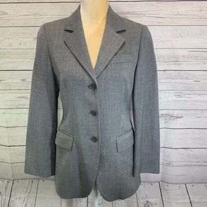 Sisley Gray Wool Blend Blazer Jacket Made in Italy